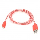 USB to 8-Pin Lightning Nylon Woven Cable for iPhone 5 / iPad 4 / iPad Mini - Red + White