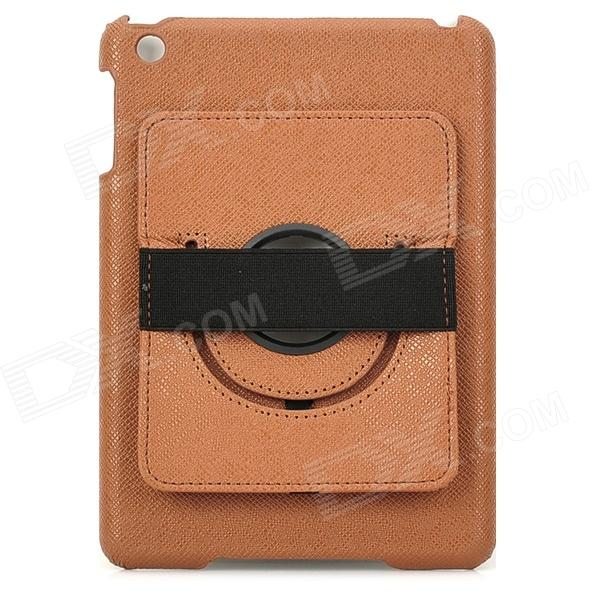 все цены на Protective PU Leather + PC Back Case w/ 360 Degree Rotation Hand Strap Holder for Ipad MINI - Brown онлайн