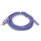 USB 2.0 to 8-Pin Lightning Nylon Cable for iPhone 5 / iPad 4 - Purple