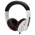 Ditmo DM-3000 Stereo Headset Headphone - Black + White + Red
