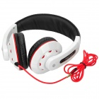 Ditmo DM-3000 Stereo Headset Headphone - Negro + blanco + rojo
