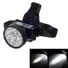 KangMing KM-161 Rechargeable 100lm 9-LED 2-Mode White Light Headlamps for Hunt / Camp + More - Black