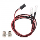 5mm Car Model Toy 2-LED Red Light  - Black + Red + White + Silver