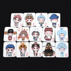 Cartoon Peking Opera Style Refrigerator Magnet Sticker Set - Multicolored (14 PCS)