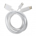 30 Pin Male to USB + HDMI Male Adapter Cable - White (1.8 M)
