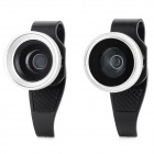W-67 3-in-1 180 Degree Fish Eye Wide Angle Macro Lens for Iphone + Ipad - Silver + Black
