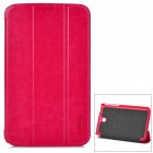 Stylish Protective PU Leather Case for Samsung Galaxy Tab 3 7.0 P3200 - Deep Pink