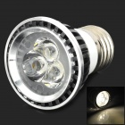 E27 3W 180lm 3200K 3-LED Warm White Light Spotlight - Black + Silver (85~265V)