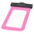 Universal Waterproof Protective PVC Mobile Phone Bag - Pink + Black