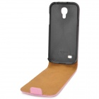 Protective Top Flip Open Leather Case for Samsung i9190 Galaxy S4 Mini - Pink