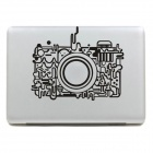 Stylish Camera Pattern DIY Sticker for MacBook - Black