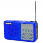 """Rechargeable 1.7"""" LCD Music Speaker MP3 Player with FM / TF Slot / USB 2.0 - Deep Blue + Black"""