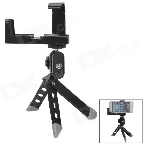 Universal Adjustable Tripod for Camera / Mobile Phone - Black + Silver - DXMounts &amp; Holders<br>Brand N/A Quantity 1 Piece Color Black + Silver Material Plastic Style Desktop Compatible Models Universal Compatible Size Width 45~60mm Features Adjustable tripod lightweight and portable Packing List 1 x Tripod 1 x Bracket<br>