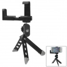 Universal Adjustable Tripod for Camera / Mobile Phone - Black + Silver
