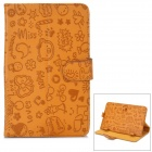 "Cute Cartoon Style Protective PU Leather Case for 7"" Tablet PCs - Brown"