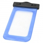 Universal IPX8 Waterproof Protective PVC Mobile Phone Bag - Black + Translucent Blue