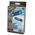 "FS-4 USB impermeable recargable 1.0"" LCD nadador reproductor de MP3 w / FM - azul (8 GB)"