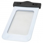 Universal IPX8 Waterproof Protective PVC Mobile Phone Bag - White + Black