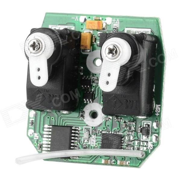 Circuit Board PCB Box Spare Parts for WLtoys V911 RC Helicopter - Green + White + Black brand new inkjet printer spare parts konica 512 head board carriage board for sale