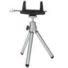 Multifunction Aluminum Alloy Tripod for 39~86mm Width Mobile Phones - Black + Silver