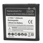 Rechargeable 3.7V 2500mAh Battery for Sony Xperia ZR/ M36h/ C5502/BA950 - Black