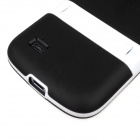 ENKAY Protective Soft TPU Back Case w/ Stand for Samsung Galaxy S4 Mini / i9190 - Black
