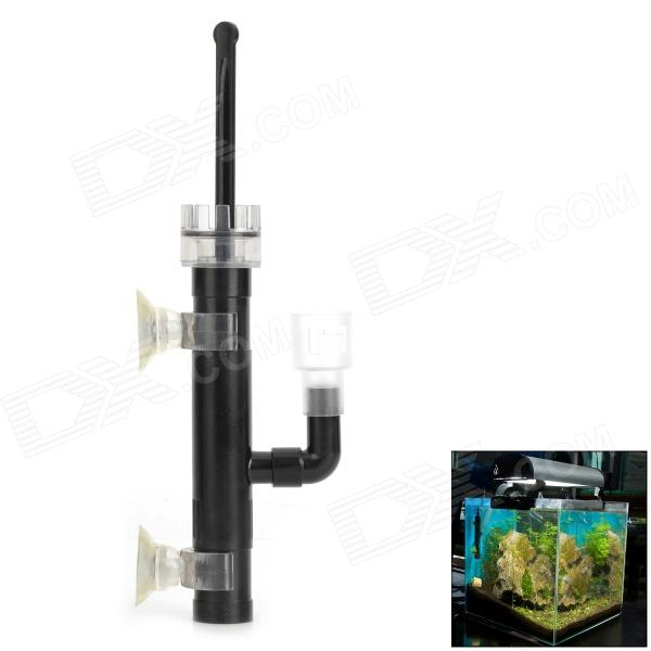 E5XLZ KY0635 Surface Water Oil Skimmer / Cleaner for Pet Fish Tank / Aquarium - Black 1 2 built side inlet floating ball valve automatic water level control valve for water tank f water tank water tower