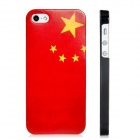 Chinese Flag Print Matte Protective Plastic Back Case for Iphone 5 - Red