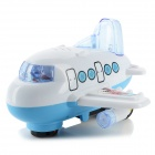 BY 817 Electronic Mini Airliner Toy for Kids - Blue + White (3 x AA)