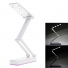 KM-6659A Folding Rechargeable 2.6W 220lm 6000K 28-LED 2-Mode White Light Table Lamp - Purple + White