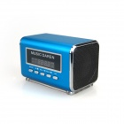 "KS300 Portable 1.9"" LCD Mini Speaker MP3 Player w/ USB / TF / FM Radio - Blue"