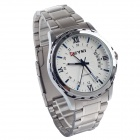 EYKI EFL8552AG Stylish Men's Quartz Analog Wrist Watch w/ Simple Calendar - Silver (1 x LR626)