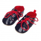 Fashionable And Cute Soft PU Baby Shoes - Black (6~9 Months / Pair)