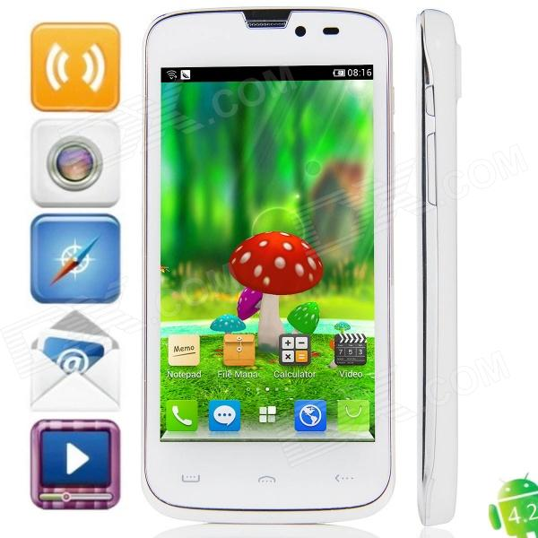 "isa ET T45 MTK6589 Quad-Core Android 4.2.1 WCDMA Bar Phone w/ 4.5"" IPS, 1GB RAM, 4GB ROM, GPS -White"