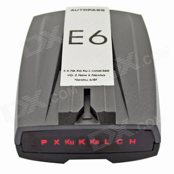 "E6 2"" LED Display GPS Navigator Car Radar Laser Detectors w/ English Voice - Grey + Silver + Black от DX.com INT"