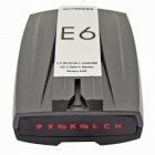"E6 2"" LED Display GPS Navigator Car Radar Laser Detectors w/ English Voice - Grey + Silver + Black"