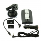 "E6 2"" LED GPS Car Radar Laser Detectors w/ English Voice - Grey"