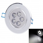 RX CFF005WSL000 5W 400lm 6000K 5-LED White Light Deckenleuchte - Silver (220V)