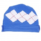 Cute Square Pattern Soft Cotton Baby Hat Cap - Grey + Blue
