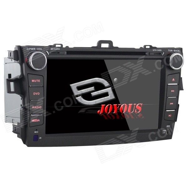 Joyous J-8612MX 8 Toyota Corolla 2 Din DVD Player w/ GPS, Analog TV, IPOD, Bluetooth and FM / AM автомобильный dvd плеер joyous kd 7 800 480 2 din 4 4 gps navi toyota rav4 4 4 dvd dual core rds wifi 3g