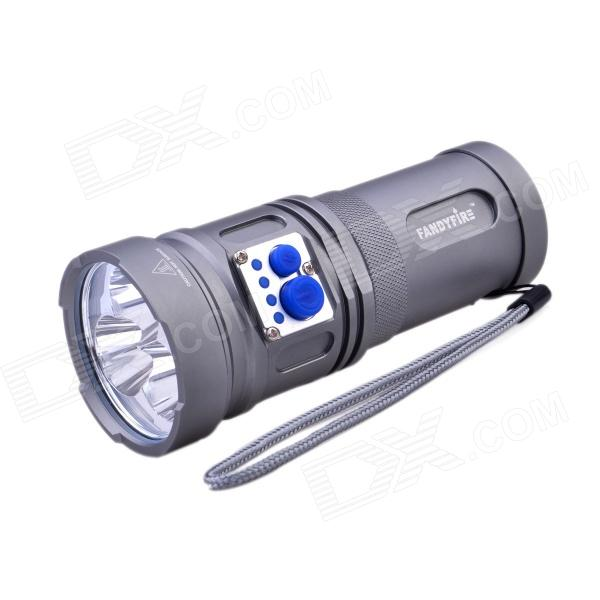 FandyFire YL-U2 2000lm 5-Mode Cold White Flashlight w/ 3 x Cree XM-L U2, Strap - Grey (3 x 18650)