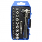 ABC23 12-in-1 Screwdriver Ratchet Tools Set - Blue + Silver + Black