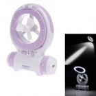 KMS KM-683 Multi-Function 24-LED White Light Fan Lamp - Purple + White (2.5W/200lm)