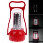 KMS KM-770 2.8W 200lm 6000K 35-LED White Light Rechargeable Hurricane Lamp - Red + Silver
