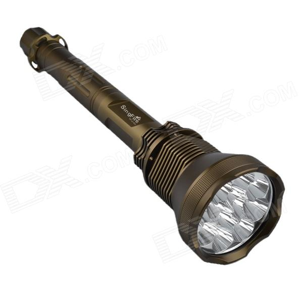 SingFire SF-210A 5-Mode 9000lm White Flashlight w/ 12 x CREE XM-L T6 - Brown (4 x 26650)