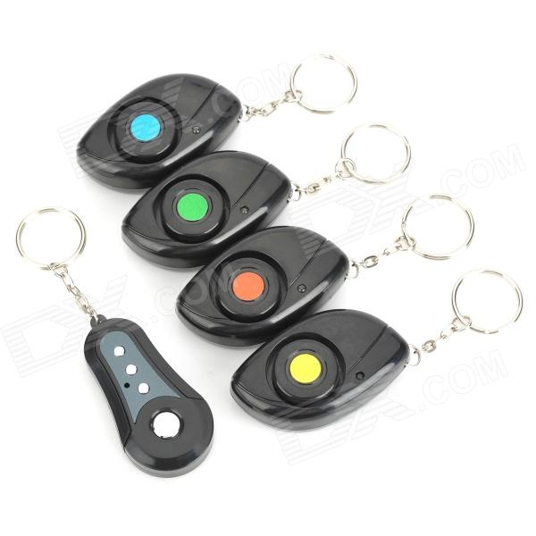XYT-F04 Electronic Key Transmitter w/ Receivers Finder - Black (1 x 5 PCS) electronic remote rf wireless key finder w 4 receivers black 1 x cr2032