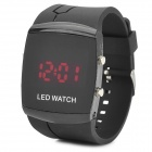 072101 Stylish Men's Rectangle LED Display Digital Wrist Watch - Black (1 x CR2032)