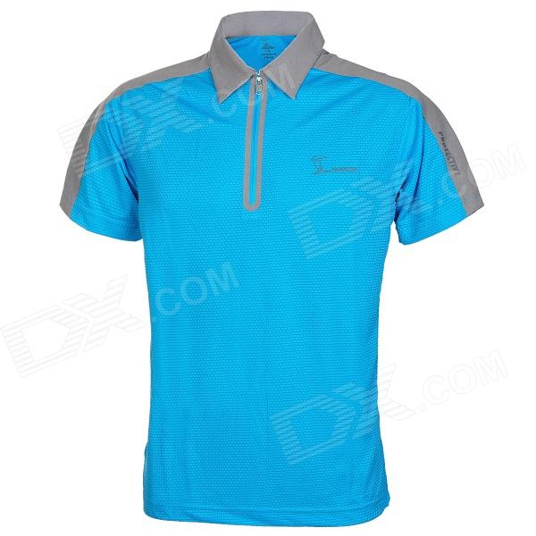 Baohusan 0959 quick drying outdoor travel polyester polo for Men s polyester polo shirts