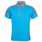 Baohusan 0959 Quick-drying Outdoor Travel Polyester Polo Shirt for Men - Blue + Grey (L)