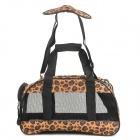 Canvas Pet Dog & Cat Outdoor Travel Carrying Bag - Yellow Leopard
